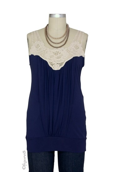 Hope Crochet Nursing Tank (Navy)