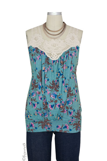 Hope Crochet Nursing Tank (Tea Party Print)