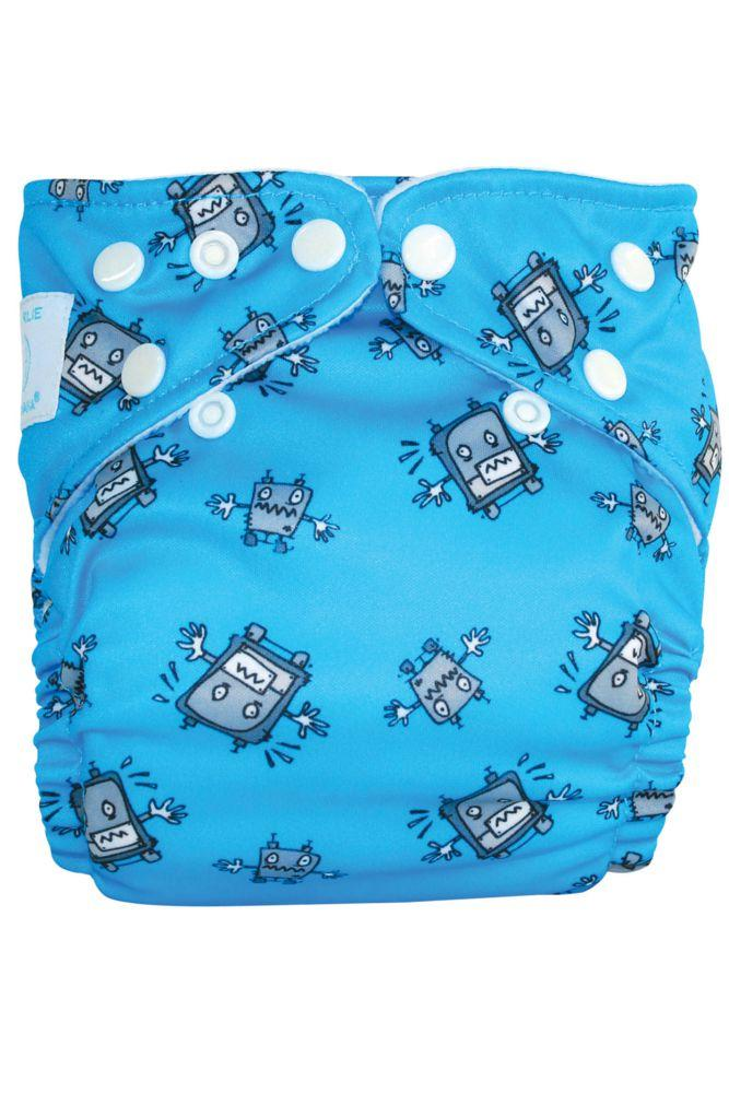 Charlie Banana® 2-in-1 One Size Reusable Diapers (Robot Boy)
