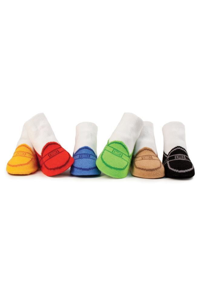Trumpette Penny Loafer Baby Socks- 6 pairs (Multi-Color)