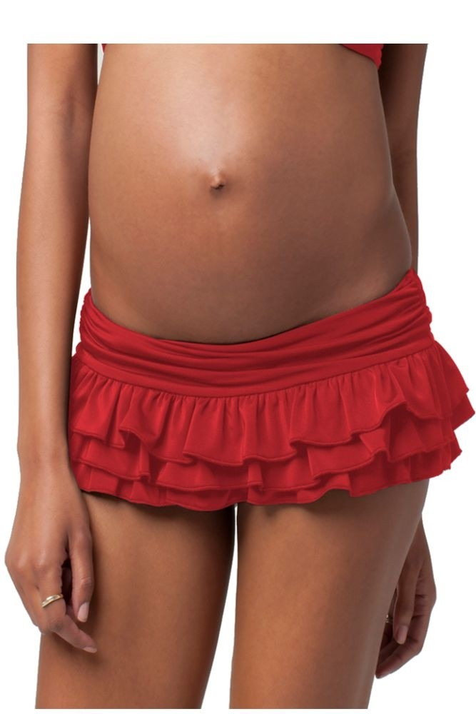 Ingrid & Isabel Ruffle Bottom (Cherry)