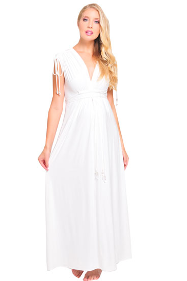 Venecia Wedding Maternity Dress with Slip (Ivory)
