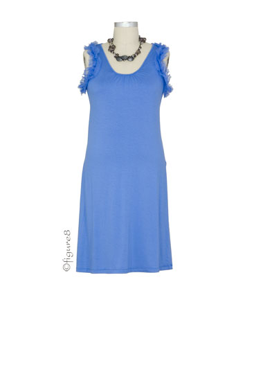 The Sara Nursing Dress (Periwinkle)