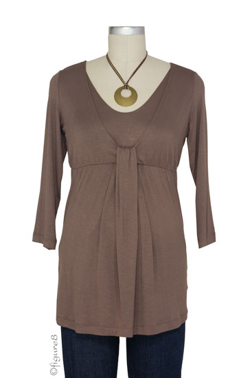 Japanese Weekend D&A Waterfall Nursing Top (Mocha)