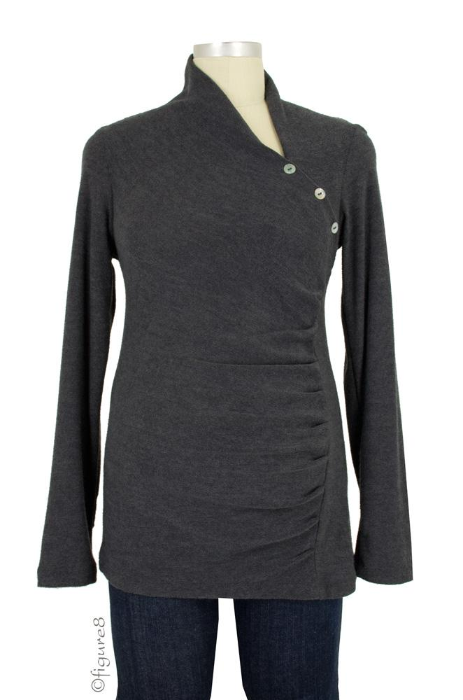 Andy Asymmetrical Maternity Sweater (Grey)
