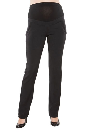 MA Over-Belly Slim Twill Maternity Pants (Black)