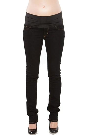 MA Belly Support Skinny Maternity Jeans (Black)