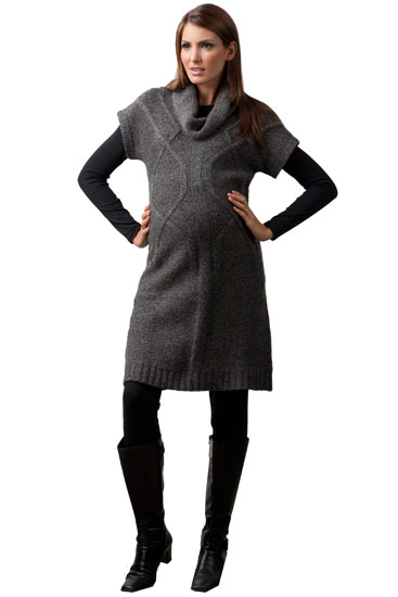 Nicci Maternity Sweater Dress in Charcoal Melange by Sono Vaso ...