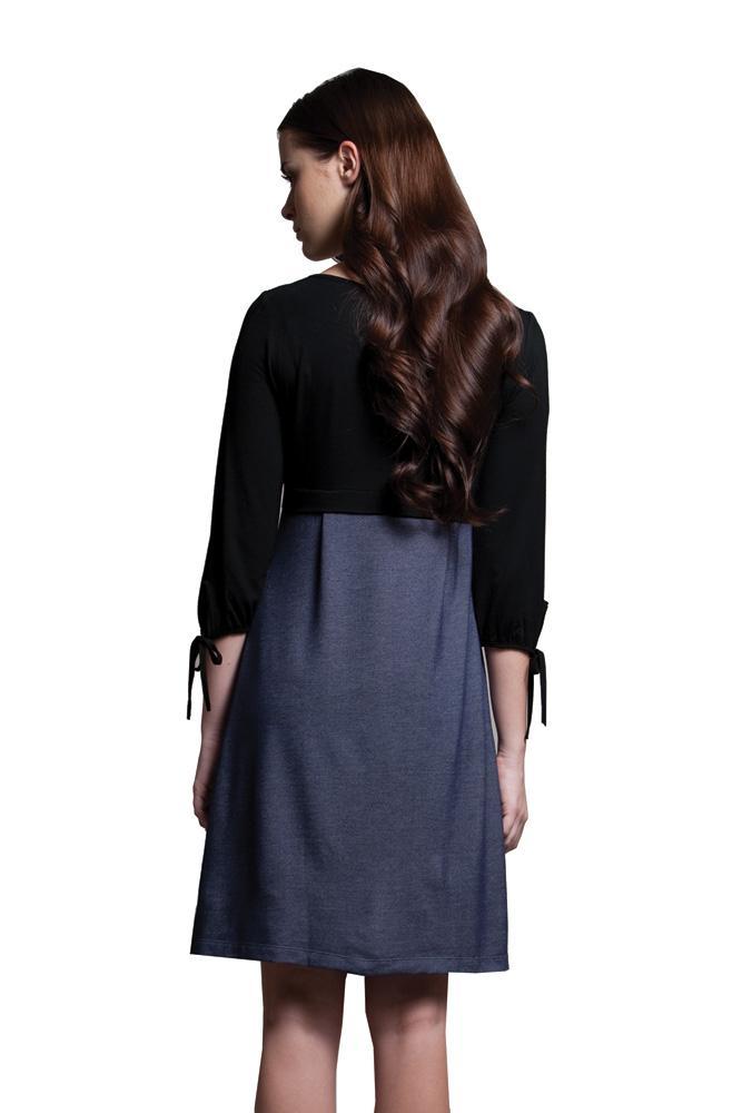 Megan Nursing Dress in Black by Dote Nursingwear
