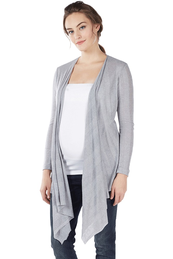 b86d4a18c49e4 Sangha Waterfall Bamboo Nursing Wrap by Mothers en Vogue in Heather Grey