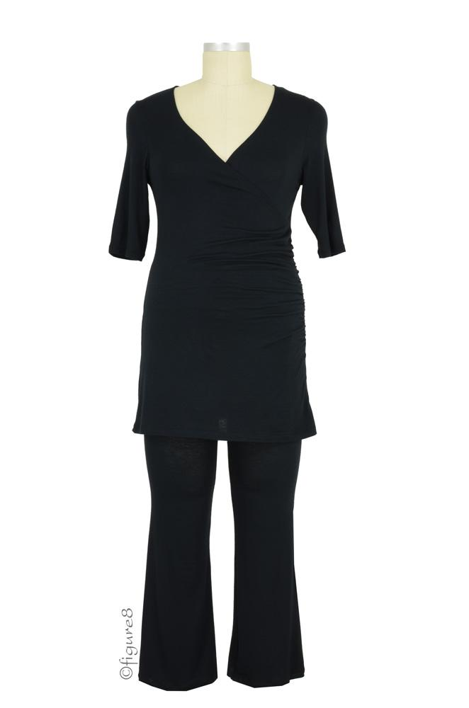 The Nancy Nursing PJ Set (Black)