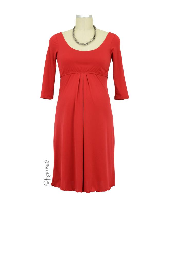 Ying Anytime Nursing Dress (Red)