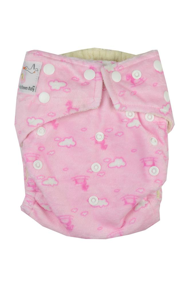 Kawaii Bamboo Minky Mom Collection Cloth Diapers In Pink