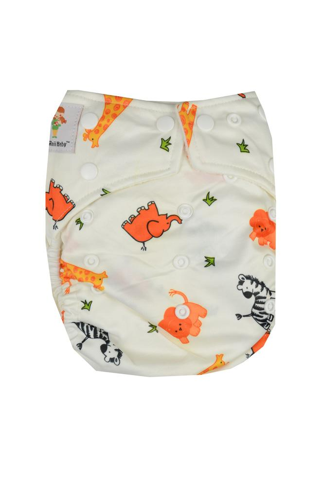 Kawaii Goodnight Heavy Wetter Cloth Diapers (White Animal)