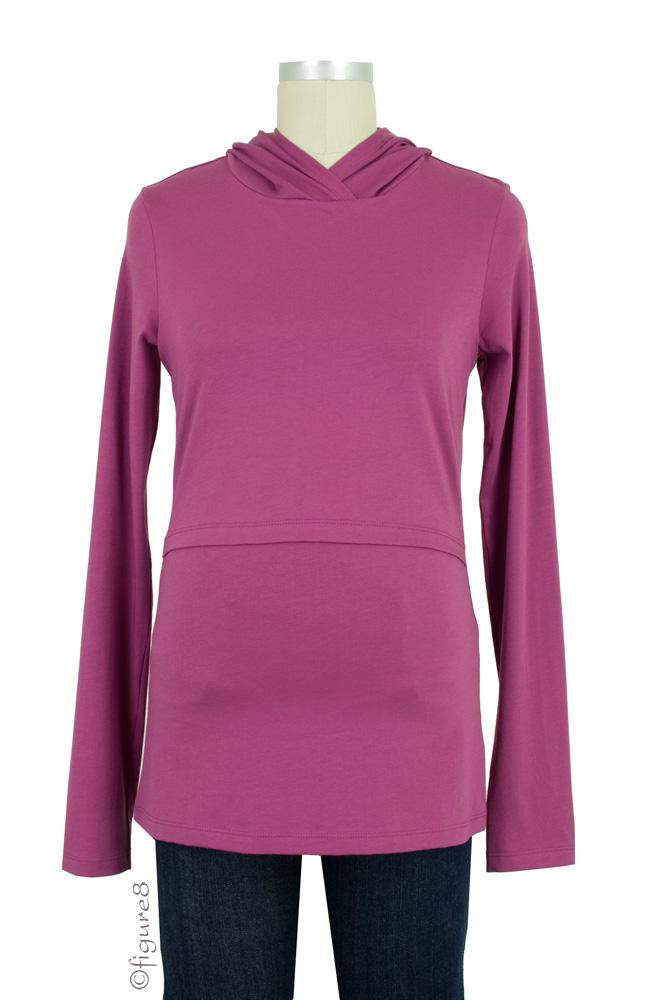 Momzelle Long Sleeve Nursing Hoodie (Digitalis)