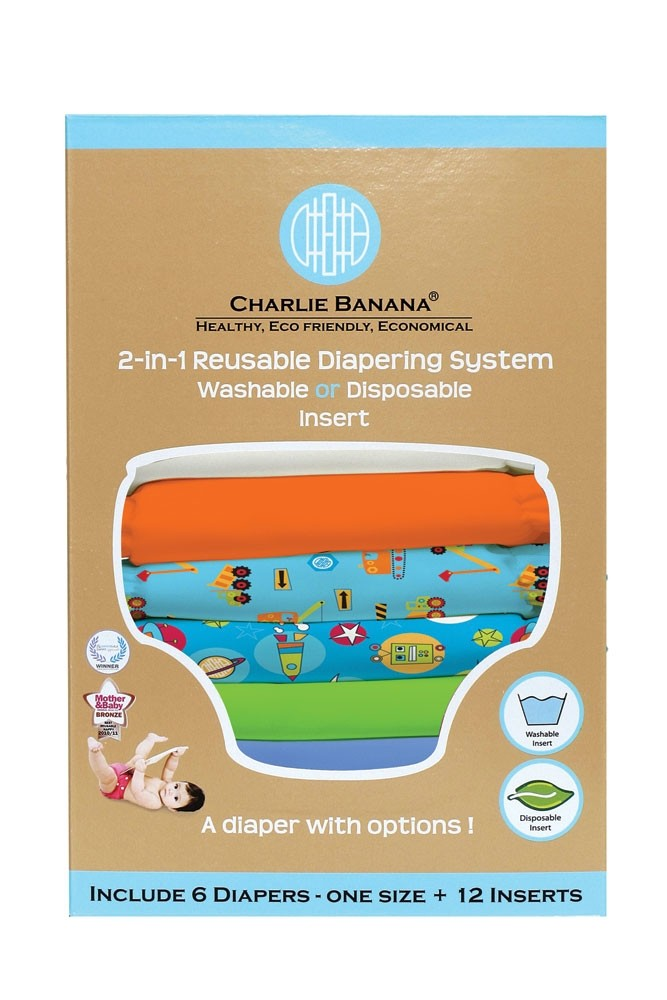 Charlie Banana® 2-in-1 Reusable Diapers - 6 Pack (Under Construction)