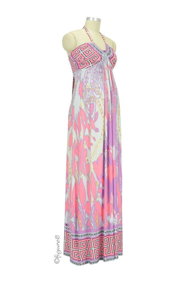 2d0cac3794 Tamara Maxi Maternity Dress. by Olian. (Item  1348400). Pink Abstract Print