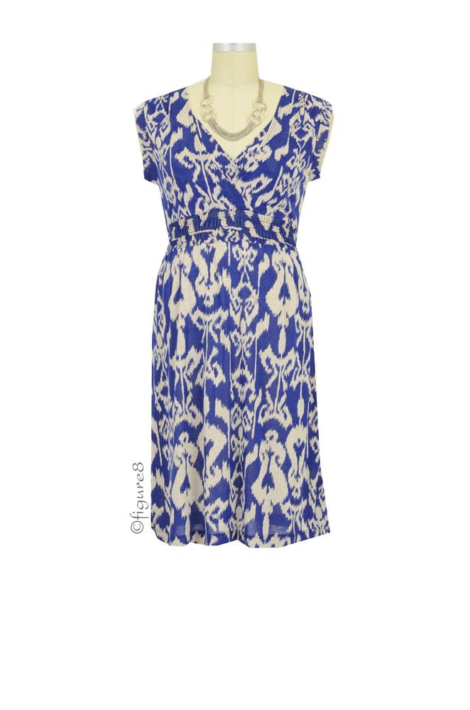 Jacinda D&A Nursing Dress (Royal Print)
