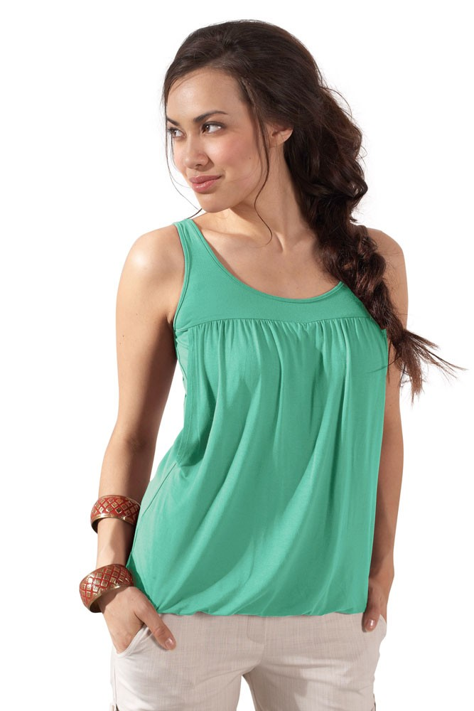 Britney Bubble Nursing Tank (Mint)