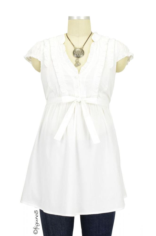 Hadley Maternity Blouse (White)
