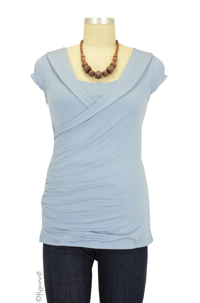 The Festival Nursing Top (Pearl  Blue)