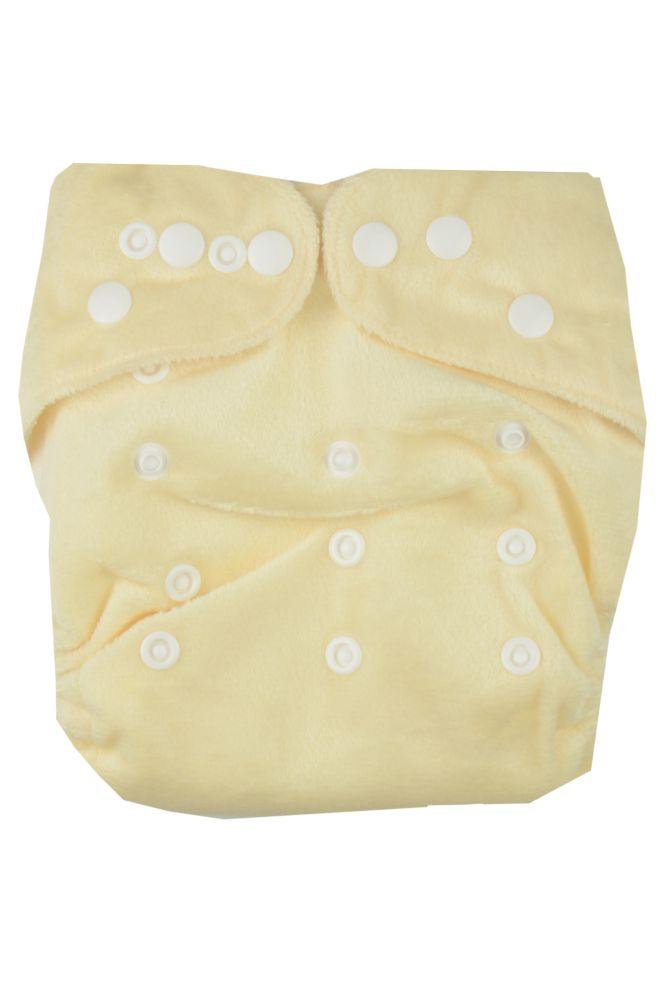 Kawaii Bamboo Minky Blue Label Cloth Diapers (Cream)