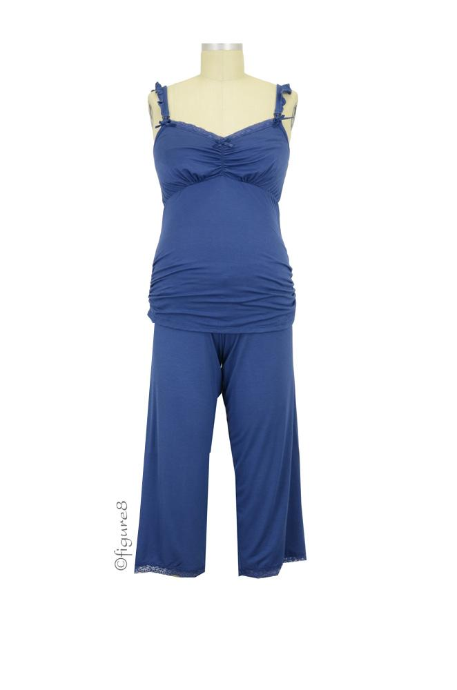 Cake 3/4 Pant and Cami Nursing PJ Set (Blueberry Torte)