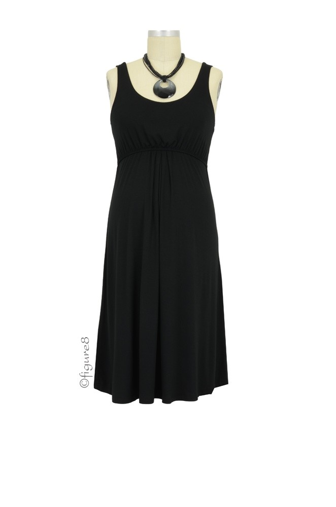Ying Anytime Sleeveless Nursing Dress (Black)