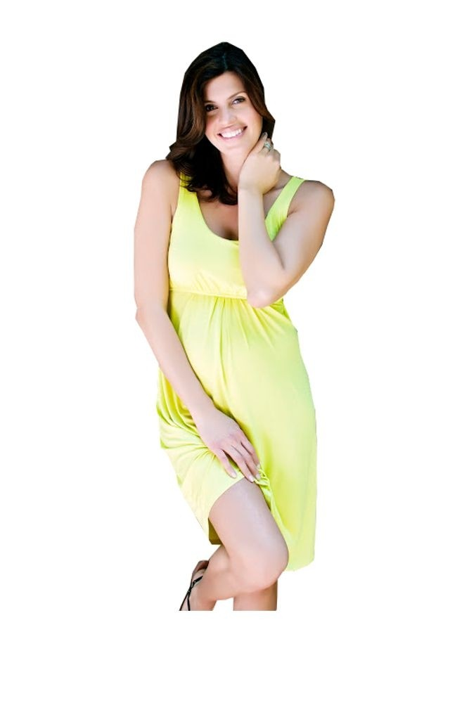 Ying Anytime Sleeveless Nursing Dress (Chartreuse)
