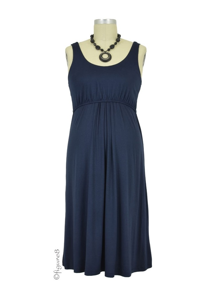 Ying Anytime Sleeveless Nursing Dress (Navy)