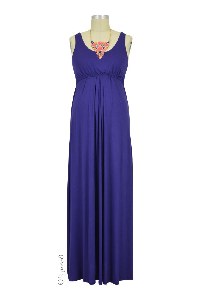 Ying Anytime Maxi Maternity & Nursing Dress (Dark Eggplant)
