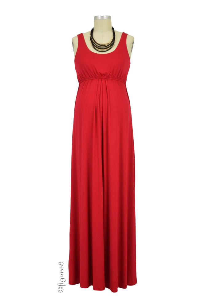 Ying Anytime Maxi Maternity & Nursing Dress (Red)