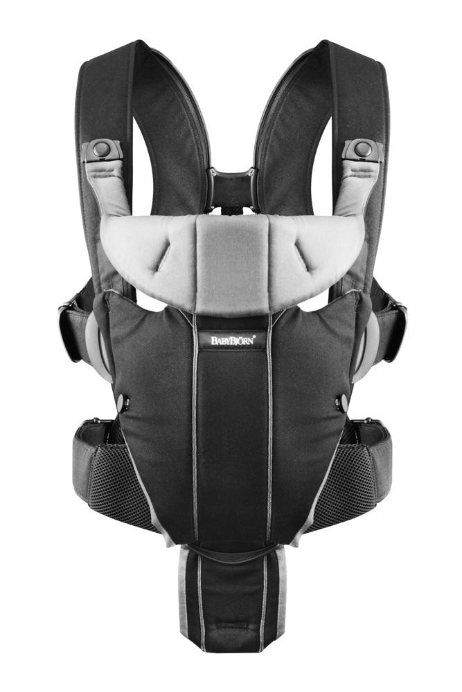 BabyBjorn Baby Carrier Miracle Soft Cotton Mix (Black/Silver)