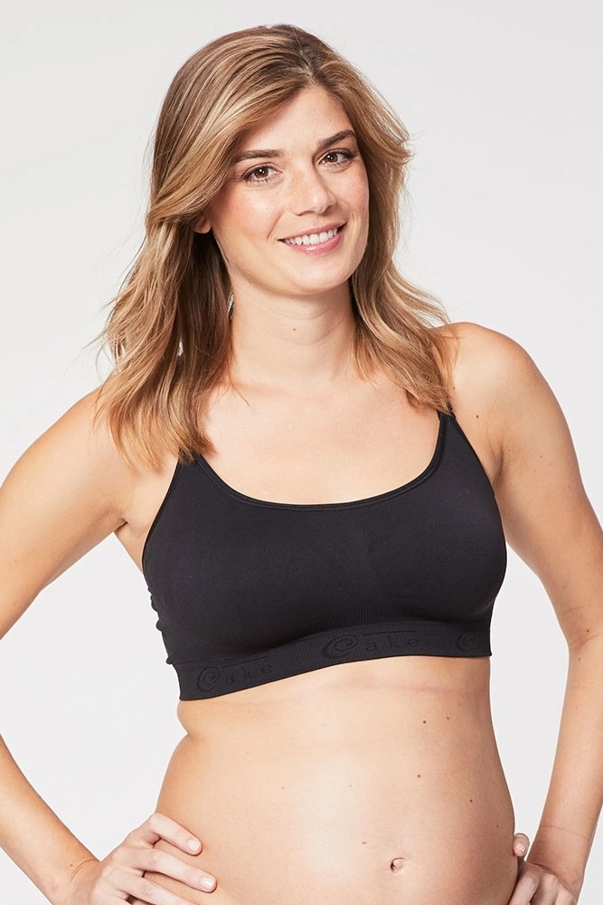 Cake Lingerie Cotton Candy Sleep & Yoga Maternity & Nursing Bra (Black)