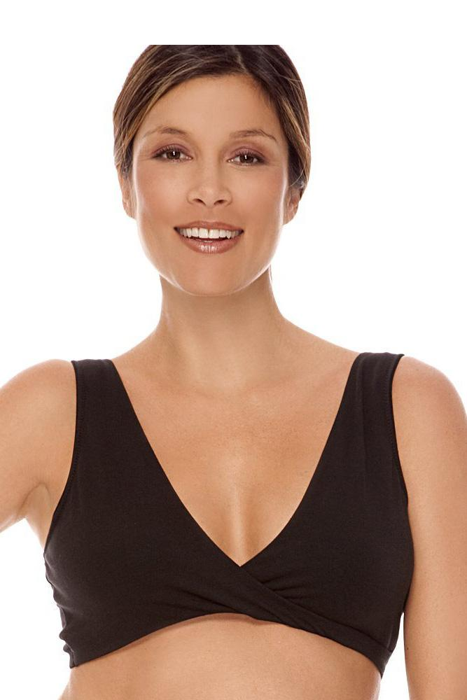 L Organic Pads >> Lamaze Cotton Sleep Bra in Black