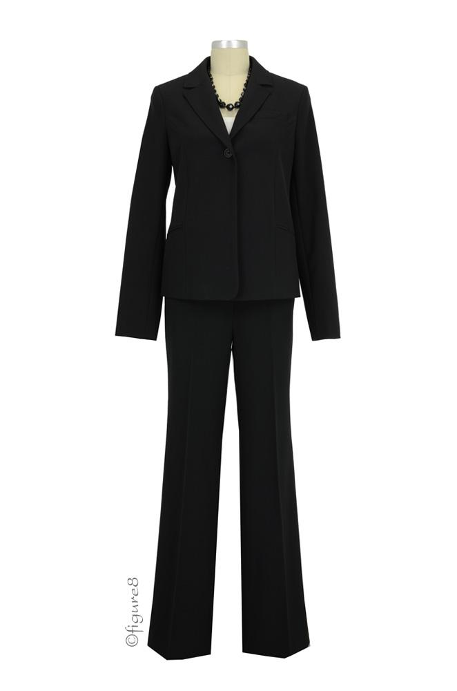 Anna 3-pc Classic Maternity Suit Set (Black)