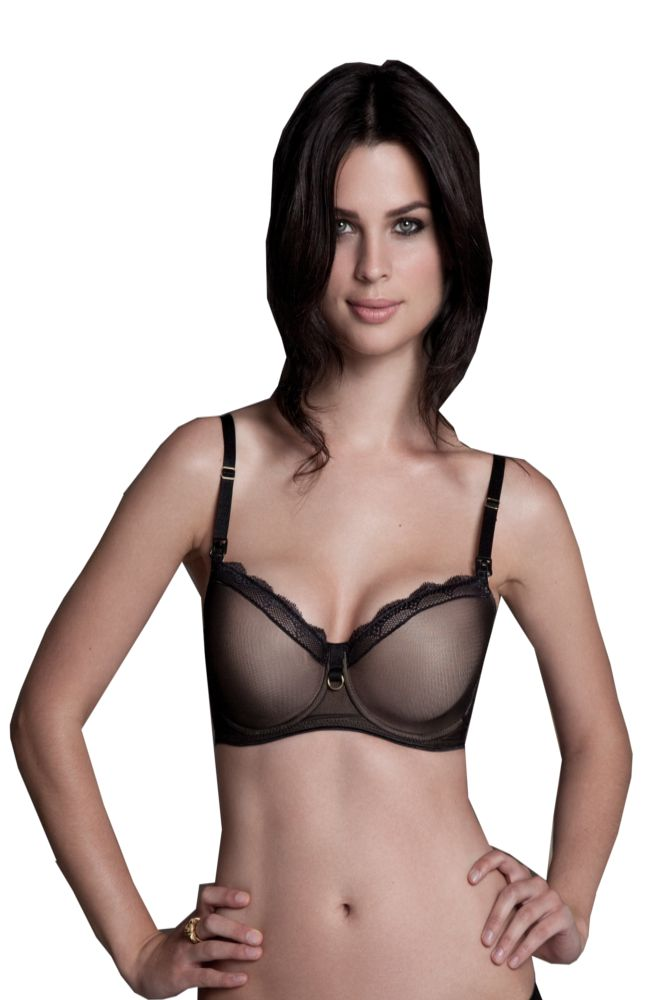 c54626dc06037 Bella Materna Sexy T-Shirt Nursing Bra in Black