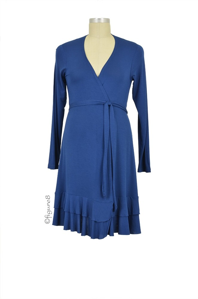 Collette Ruffle Robe (Navy)