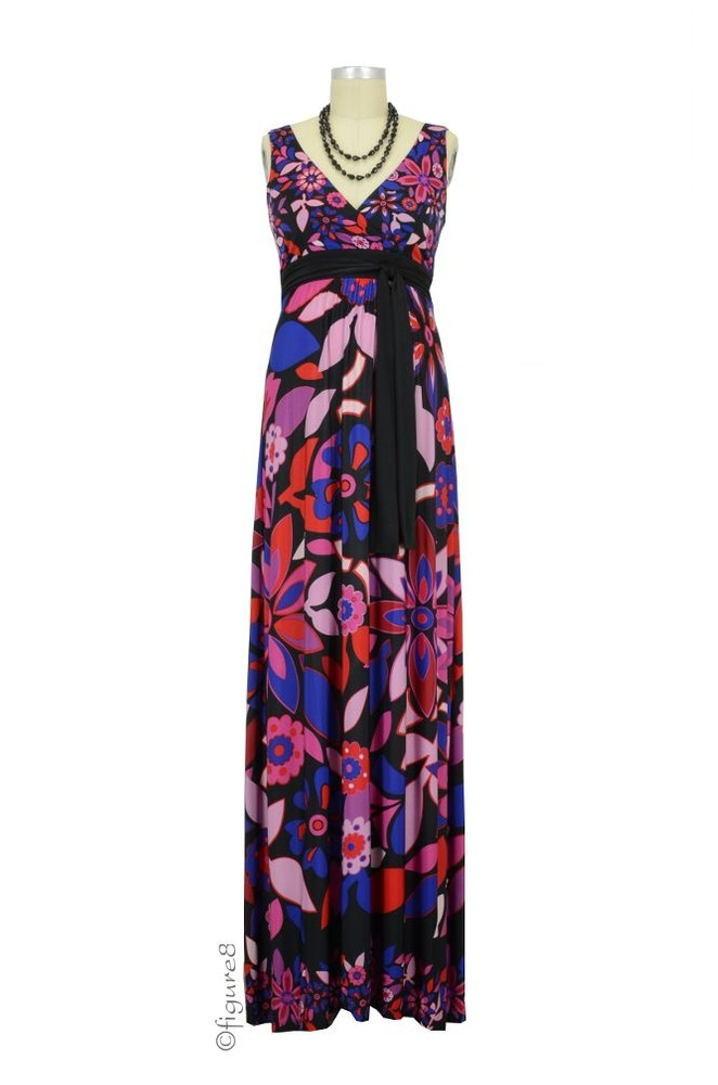 Nicole Maxi Maternity Dress (Floral Print)