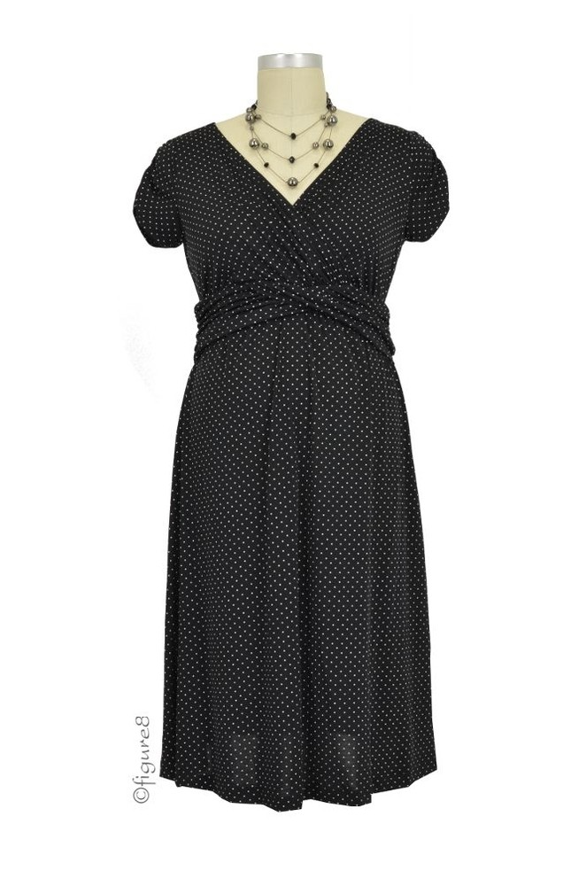 Hillary Luxe Jersey Nursing Dress (Dot)