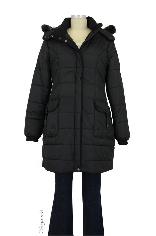 Cabe Maternity Coat (Black)