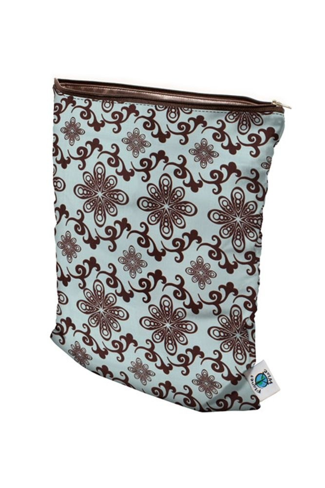 Planet Wise Medium Wet Bag (Aqua Swirl)