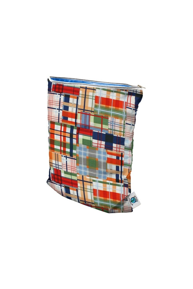 Planet Wise Large Wet Bag (Patchwork Plaid)
