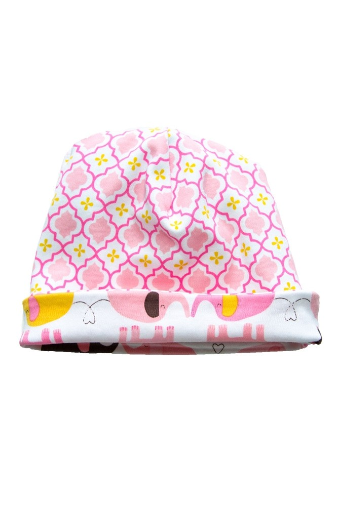 Magnificent Baby Reversible Baby Girl Cap (Elephant/Marrakesh)