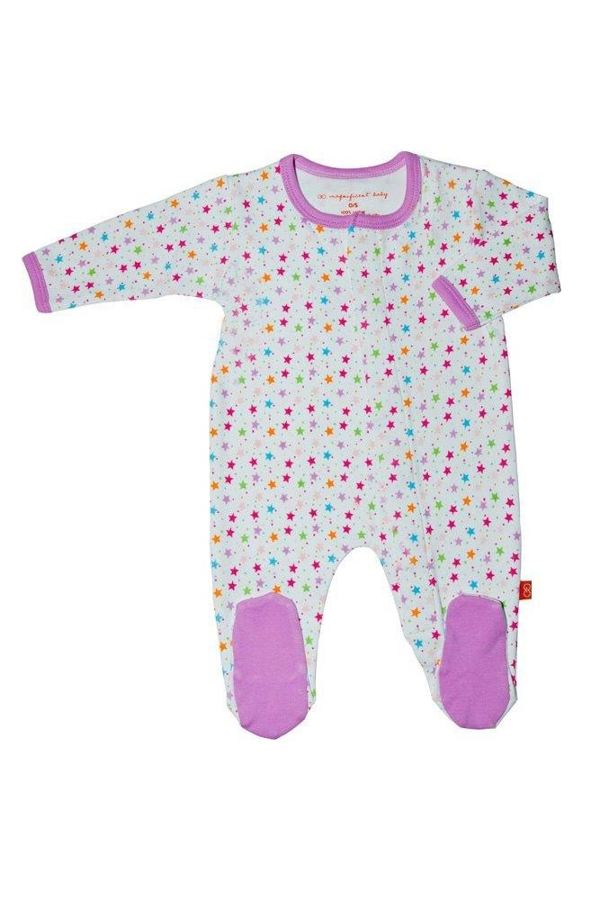 Magnificent Baby Girl's Footie (Stars)
