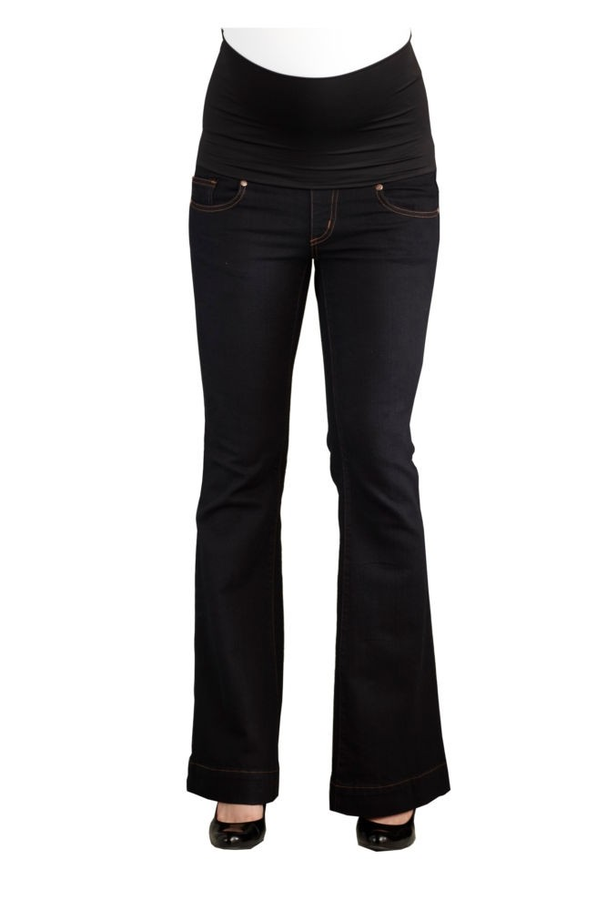 Belly Support Boot Cut Maternity Jeans (Black)