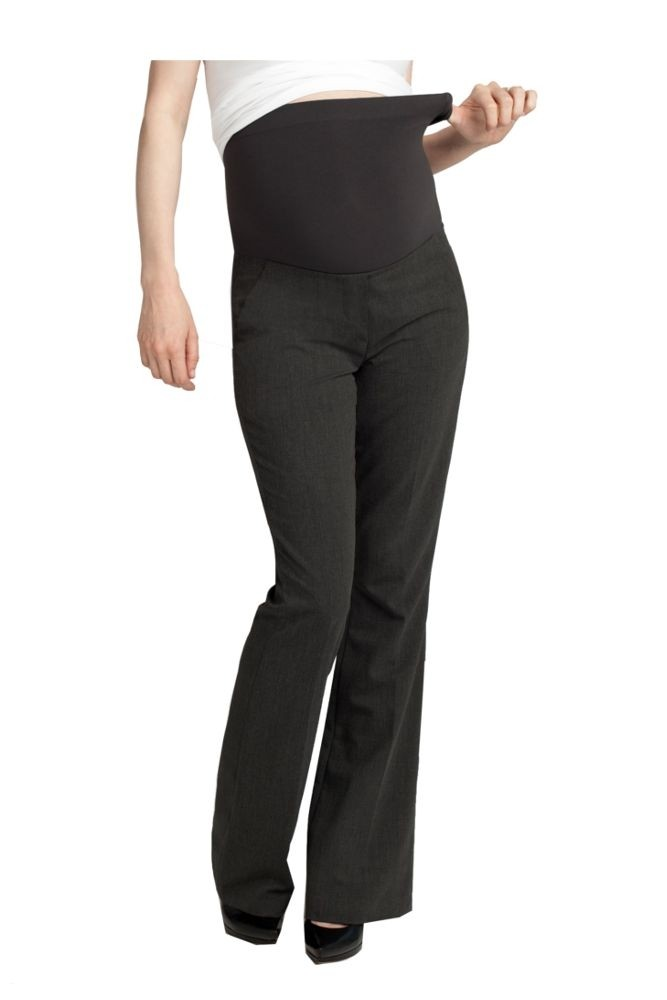 Ingrid & Isabel Tailored Maternity Trouser (Charcoal Heather)