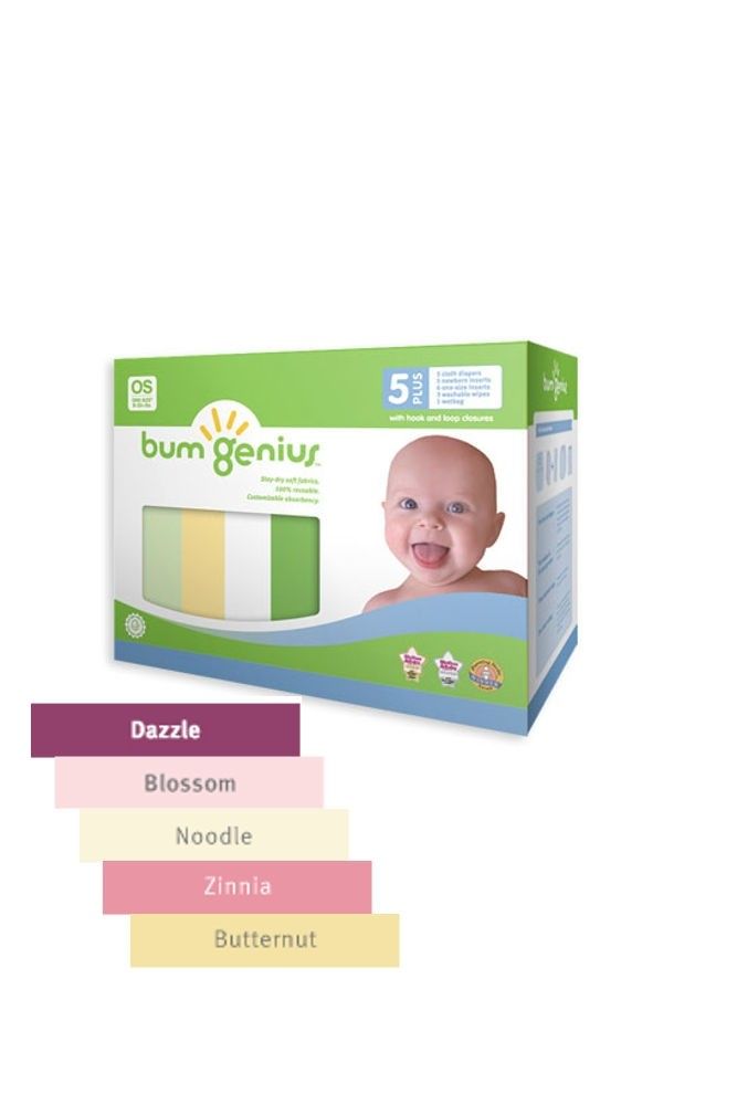 bumGenius 5+ Pack 4.0 One-Size Stay-Dry Cloth Diaper Snap (Girl)