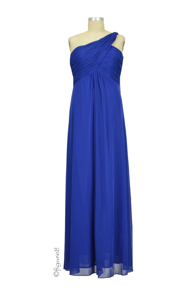 Diana e Shoulder Maternity Gown in Royal Blue by Love My
