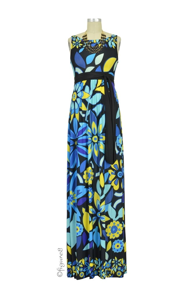 Celia Maxi Maternity Dress (Floral Print)